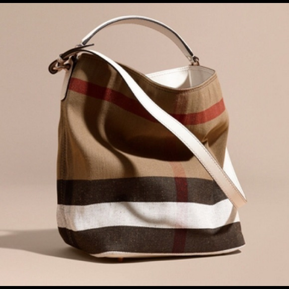 d6cad54a3d57 Burberry Handbags - Burberry Ashby Canvas Check Medium Handbag